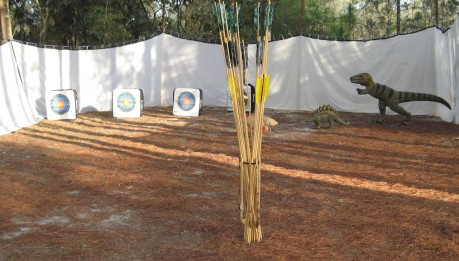All sorts of creatures crept into the atlatl range at Silver Springs State Park in Florida!