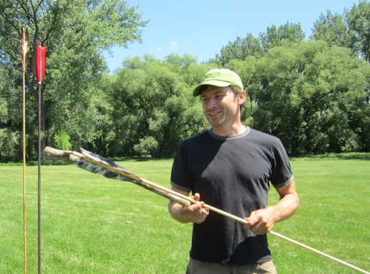 Atlatl Fun with an expedient atlatl made from surrounding natural materials.