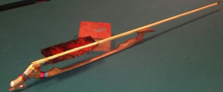 Wyalusing Atlatl and dart made by William Moss.