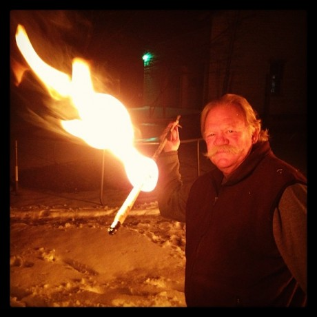 bob_berg_flaming_atlatl_dart_winter_solstice_2013
