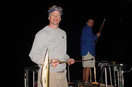 Andy with his gar. That's Micah behind him.
