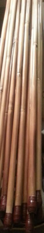 Atlatl Bamboo Darts ready for fletching at the Thunderbird Atlatl shop. Check out the finish.